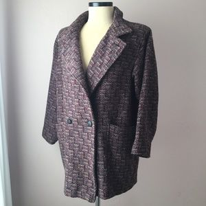 Fitz Rose Wool Tweed Double Breasted Coat 8